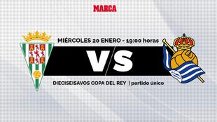Cordoba - Real Sociedad: horario y donde ver por tv y online hoy los...