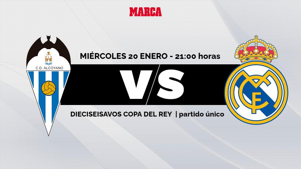 Alcoyano - Real Madrid: horario, canal y donde ver por TV y online los...