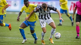 Jonathan Silva, en el partido ante el Castellón