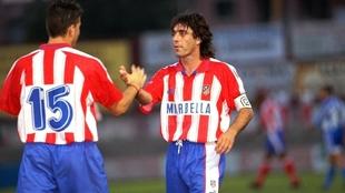 Paulo Futre durante su época en el Atlético.