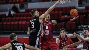 Brussino, en una imagen del enorme partido que jugó ante el Lublin.