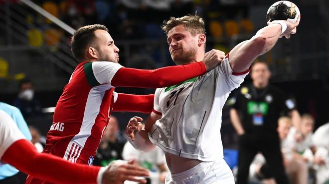 Un momento del partido entre Hungría y el Mundial /