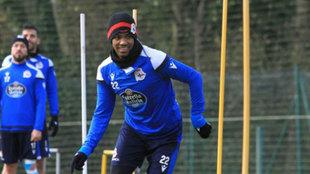 Diego Rolan, en un entrenamiento.