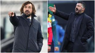 Andrea Pirlo y Genaro Gattuso