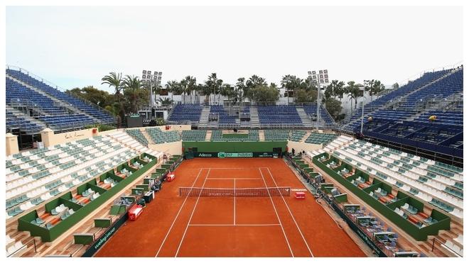 Una imagen de la pista principal del Club de Tenis Puente Romano en...