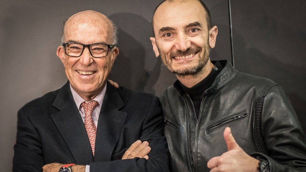 Claudio Domenicali y Carmelo Ezpeleta.