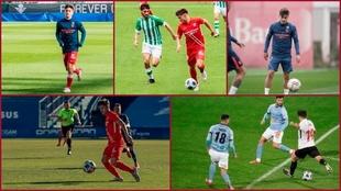 Imágenes de Iván Romero con el Sevilla Atlético.