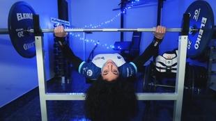 Loida Zabala, durante un entrenamiento.