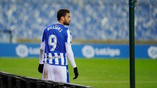 Willian José, tras ser sustituido en un partido.