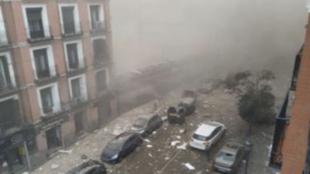 Terrible explosión en el centro de Madrid: al menos tres muertos