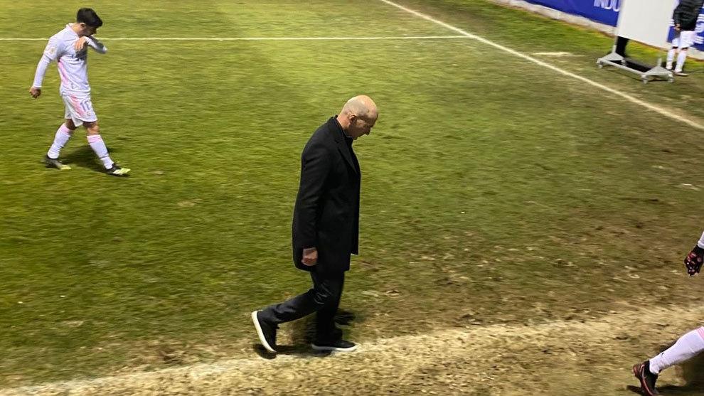 Zidane after suffering Copa elimination