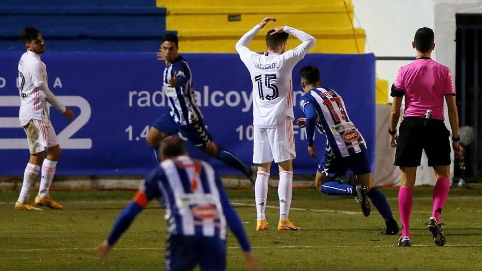 Juanan celebrates historic goal.