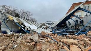 Estado en el que se encontraba La Nevera iniciada la demolición.
