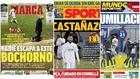 Las duras portadas del bochorno del Real Madrid