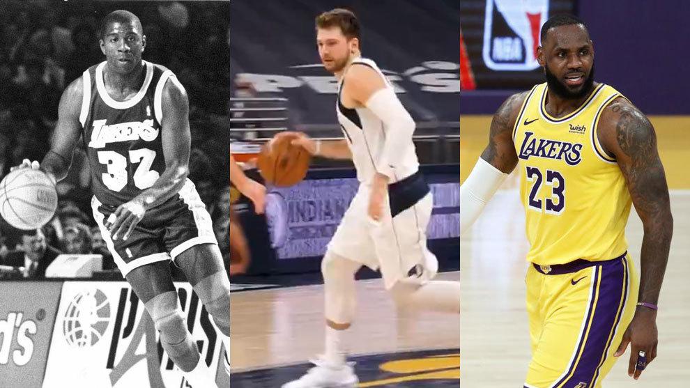 Magic Johnson, Luka Doncic y LeBron James