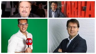 Gabinete de crisis del Real Madrid en Radio MARCA tras la eliminación...