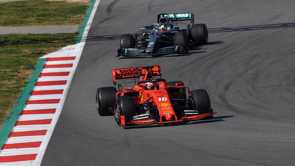 Leclerc, por delante de Hamilton.
