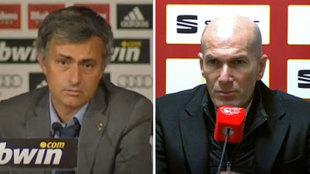 """El tibio """"no es una vergüenza"""" de Zidane contrasta con el """"conmigo están muertos"""" de Mourinho"""