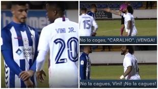 Las imágenes de Marcelo regañando a Vinícius antes del 1-1.
