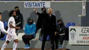 Zinedine Zidane, en El Collao.