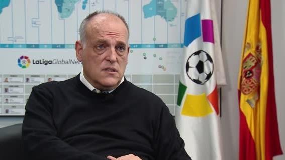 """Tebas, sobre la Superliga: """"FIFA sabe el daño que haría al fútbol"""""""