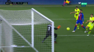 Luis Suárez logra el tanto del empate.