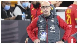 Jordi Ribera durante el partido frente a Alemania /