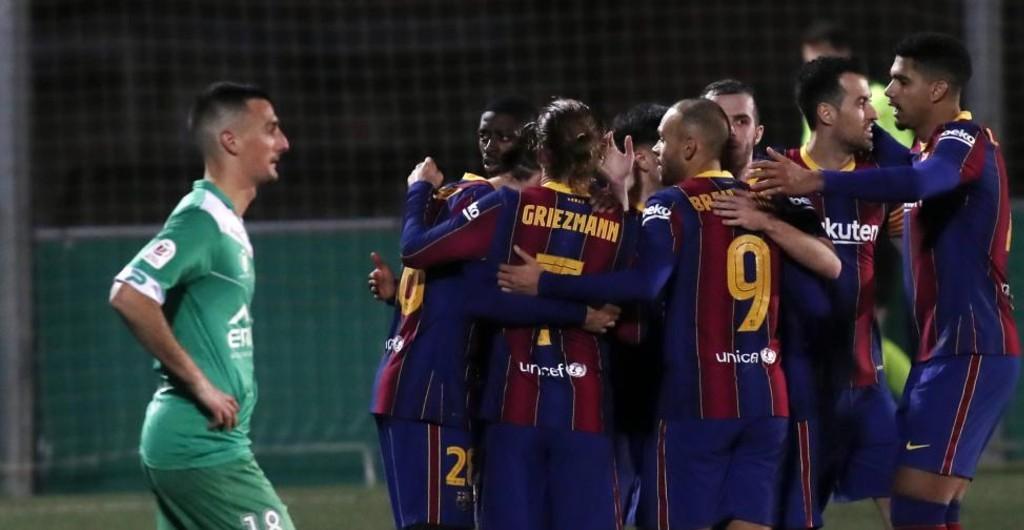 Dembele spares Barcelona's blushes