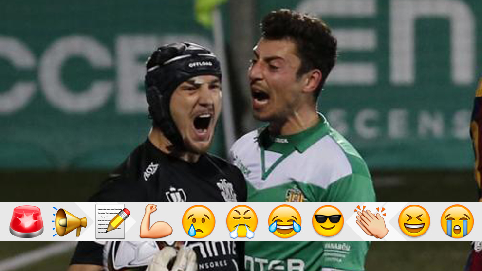 Ramon Juan after saving the first of two penalties