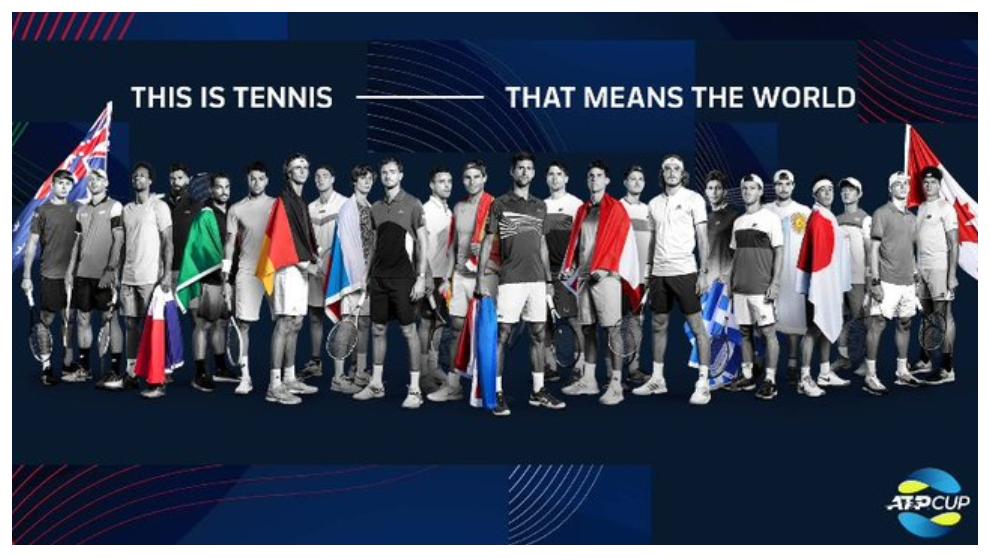 Una representación de los jugadores que estarán en la ATP Cup 2021