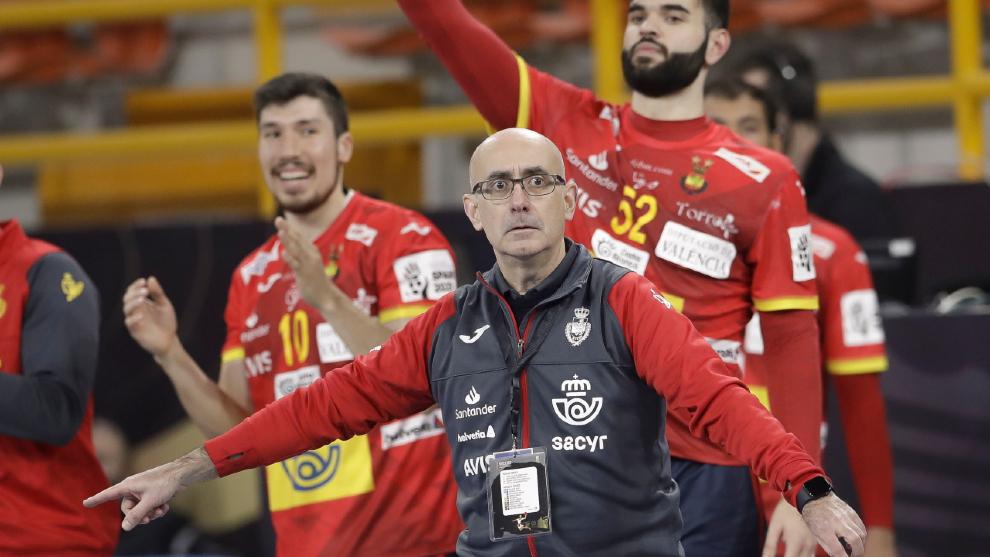 El seleccionador español Jordi Ribera, ante Alemania /