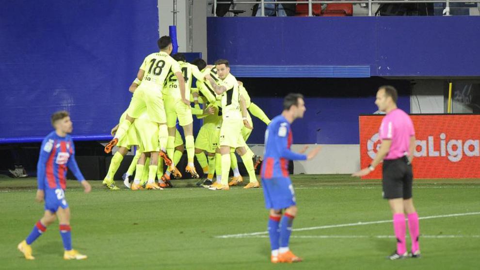 Atletico Madrid celebrate a goal