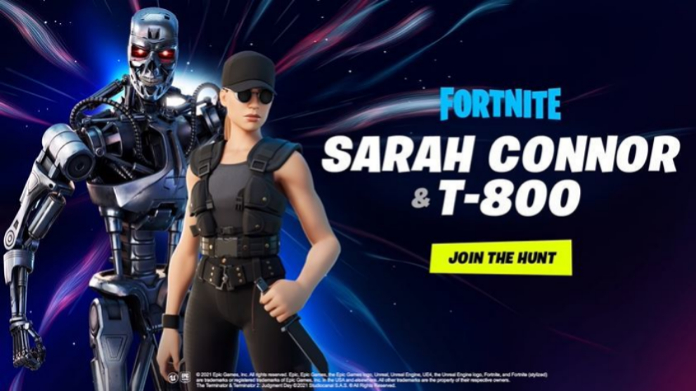 La saga Terminator ya ha llegado a Fortnite, con skins para Sarah...
