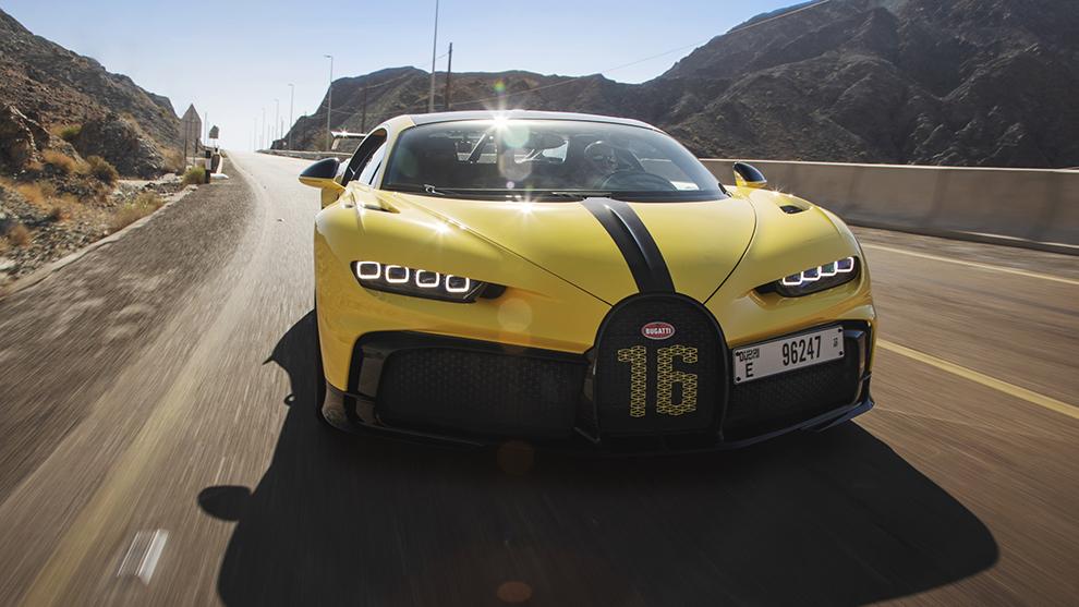 El Bugatti Chiron Pur Sport, a vista de dron