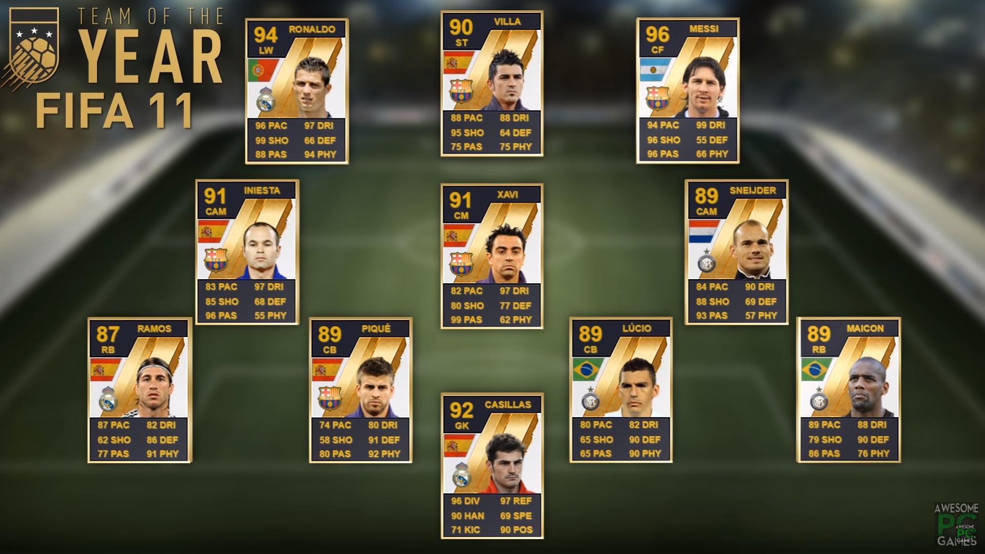 TOTY del FIFA 11
