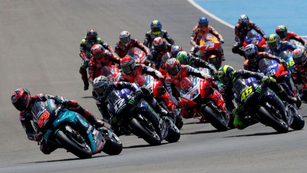 Salida del Gran Premio de Andalucía en 2020 en Jerez.