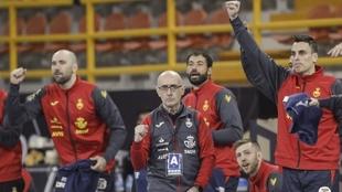El seleccionador español Jordi Ribera, durante el partido ante...