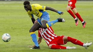 Clau Mendes, durante el partido de Las Palmas ante el Girona