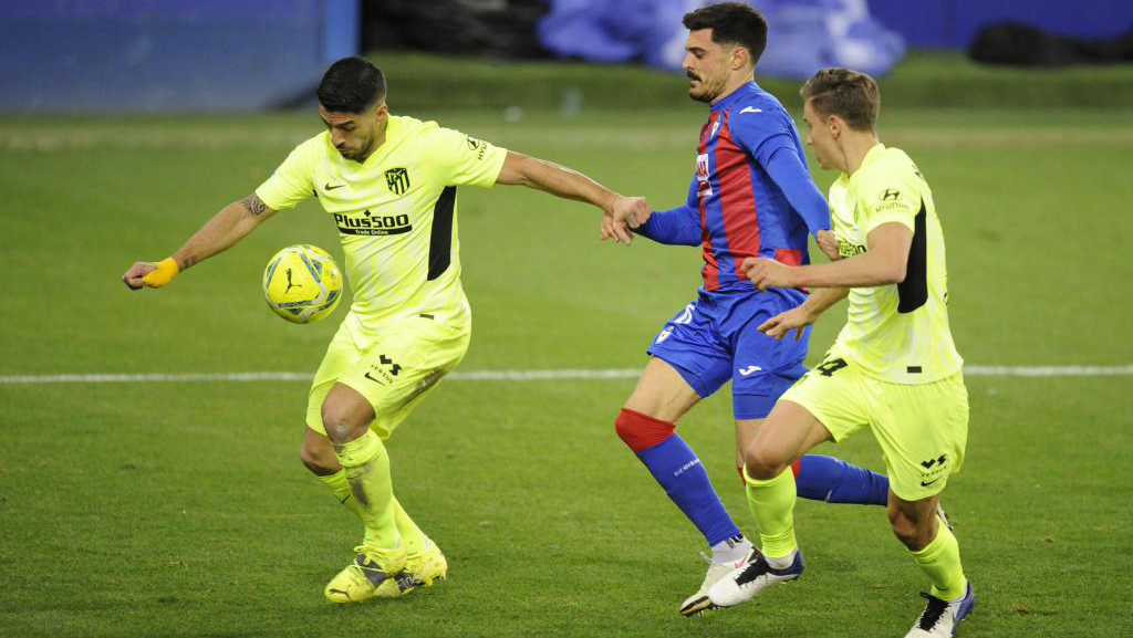 Luis Suarez against Eibar.