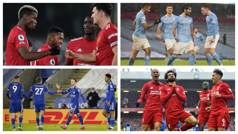 The contenders for the Premier League title