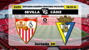 Sevilla - Cádiz: Horario, canal y dónde ver en TV hoy el partido de...