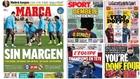 Las portadas: sin margen para el Madrid, el Kun para el Barça...