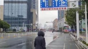 Las calles de Wuhan desérticas en su momento por el confinamiento.