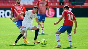 Carlos Fernández, en un partido con el Sevilla.