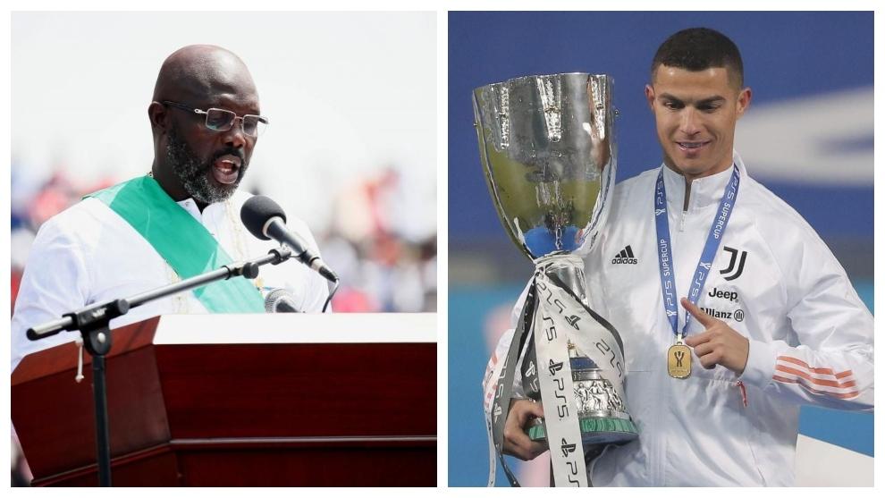 Weah and Ronaldo