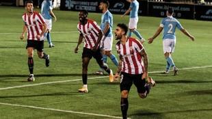 Unai Núñez celebra el tanto que marcó ante el UD Ibiza en la Copa...