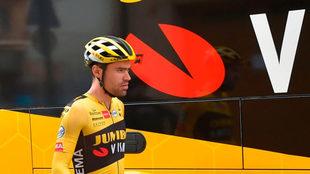 Tom Dumolin durante una etapa del pasado Tour de Francia