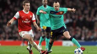 Wilshere and Iniesta