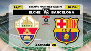 Elche - Barcelona: horario y dónde ver en television hoy el partido...