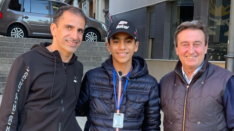 Marc Gené, Jesse Carrasquedo Jr. y Adrián Campos